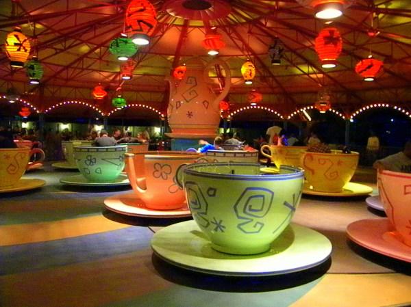 Disney tea cups, Disney Fantasyland expansion, Disney fantasyland photos, Disney night photography