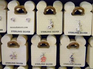 Sterling Silver, Disney jewelry, charm bracelet, Main Street, U.S.A, Disney Princess