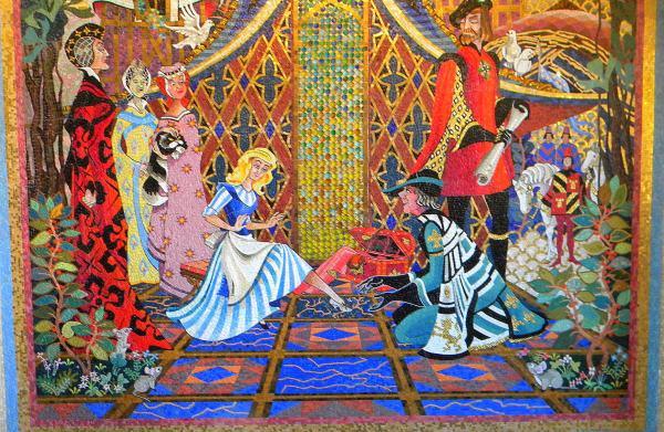 Cinderella Castle Mosaics, Cinderella Castle murals,Cinderella castle tiles
