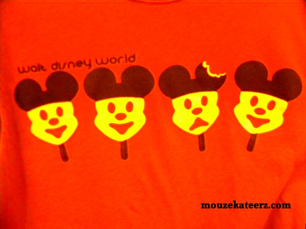 Mickey Mouse t-shirt, Mickey ice cream t-shirt photo,