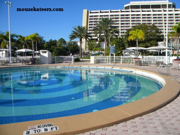 Contemporary resort cabana prices, contemporary resort pool cabana reservations, contemporary resort quiet pool photo,
