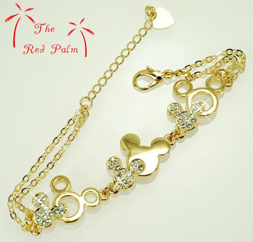 Free Disney, Gold Disney, Mickey Mouse bracelet