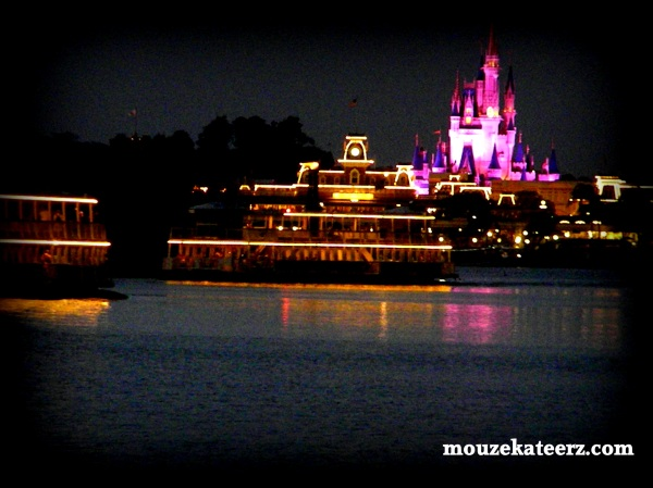 Cinderella Castle at night, Disney Ferry at night