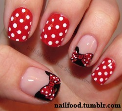 Minnie Mouse Nail Designs Mouze Kateerz
