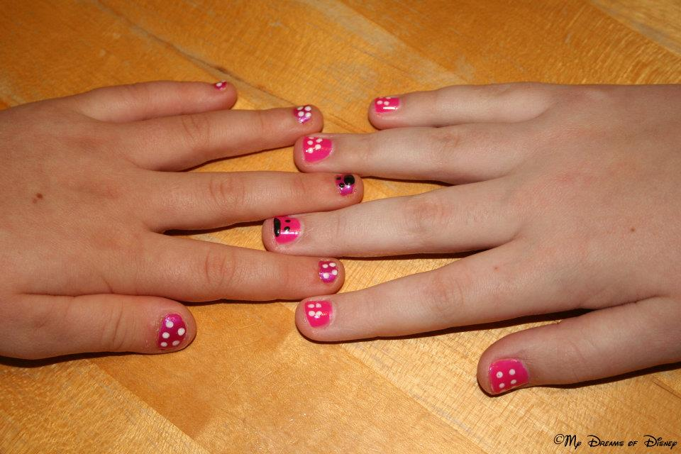 minnie mouse nail art for kids images