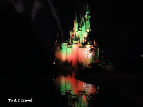 Cinderella Castle Halloween, MNSSHP Castle, Cinderella castle