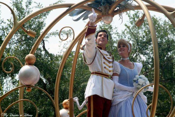 Cinderella, Prince Charming. Disney's Cinderella, Cinderella parade