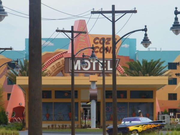 Art of Animation Cars section, Cozy Cone Motel, Cars Movie, Disney cars movie,
