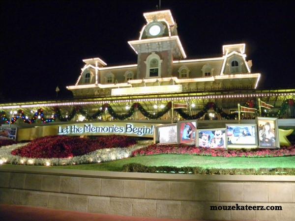 Disney at night, Extra Magic Hours, Disney train at night, Disney entrance