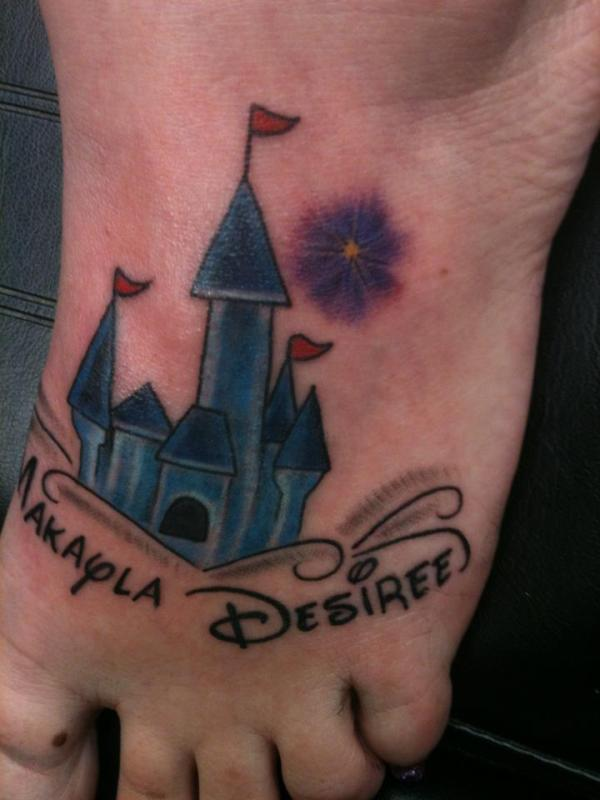 Disney tattoo, Cinderella castle tattoo, Disney tat, Disney ink