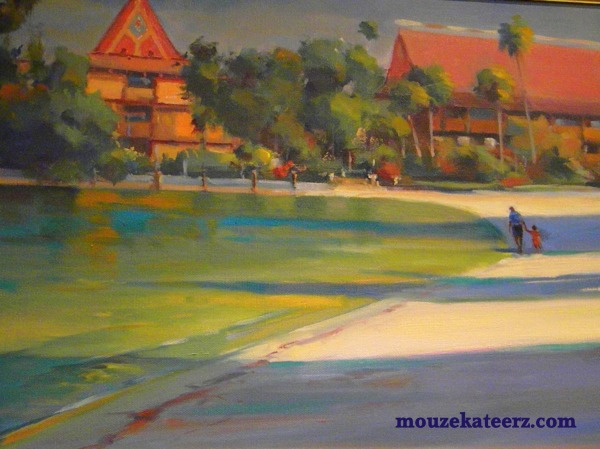 Polynesian Resort, Art of Disney, Disney art, Disney crafts, Disney paintings