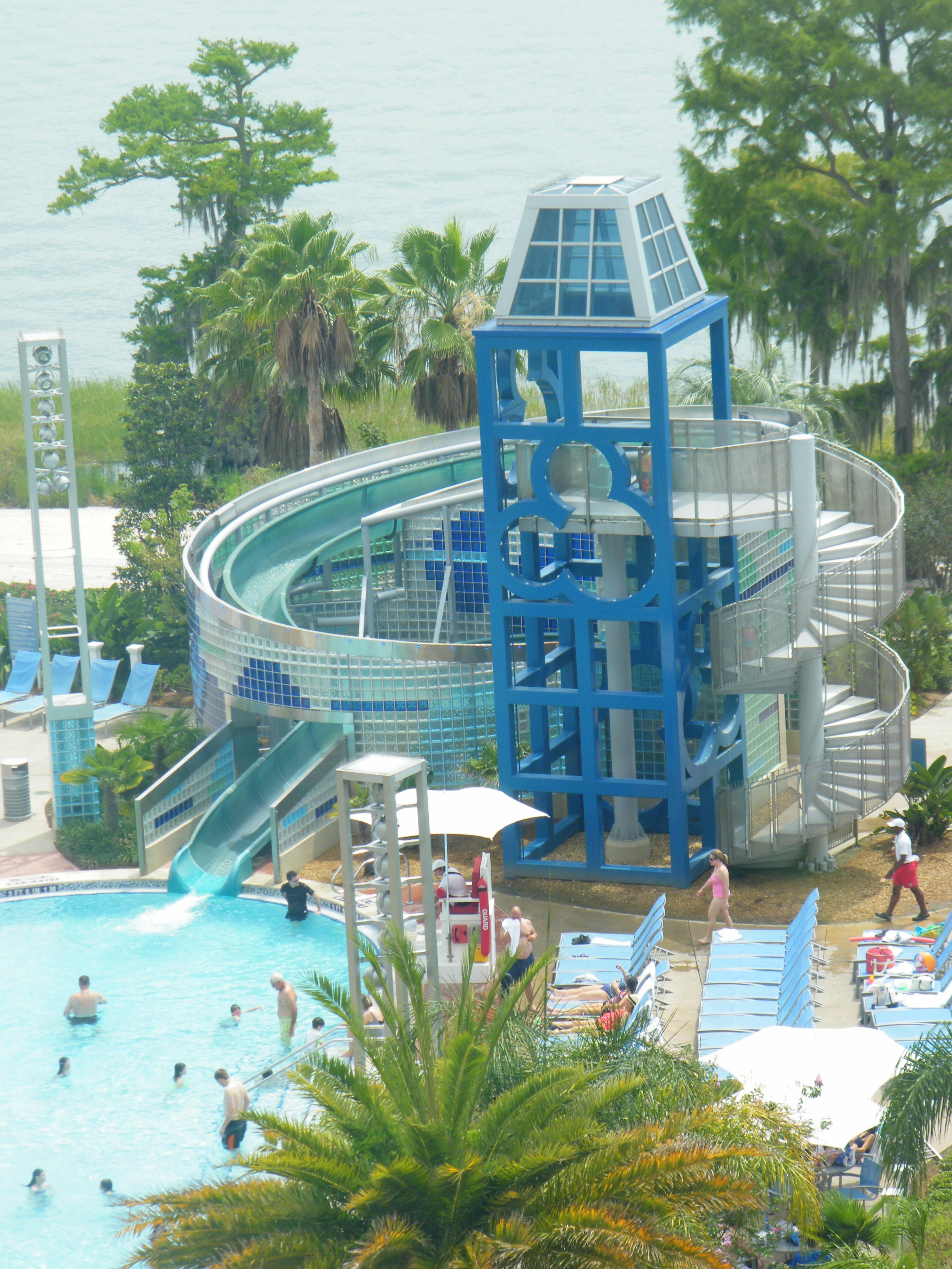 Wilderness Lodge  Standard and Woods View   Animal Kingdom Lodge    Wilderness Lodge Pool Slide