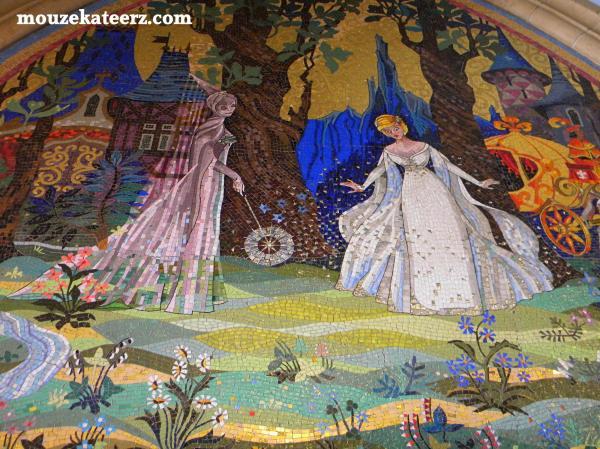 Cinderella castle tiles,