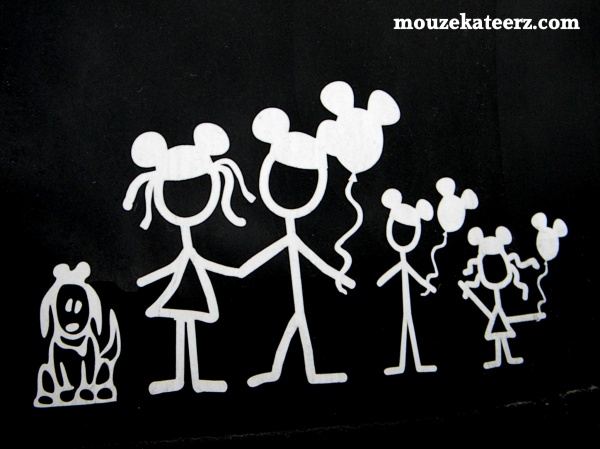 Disney car window decals, Disney stickers, Disney cars, Disney family stickers, balloon Disney stickers