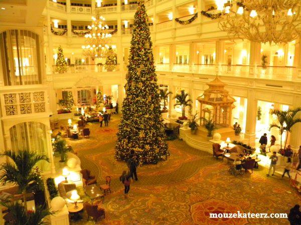 Grand Floridian Christmas decorations, Grand Floridian Spa, Grand Floridian Lobby