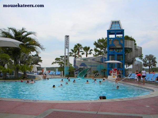 Bay Lake Tower Pool, Bay Lake Tower hot tub, Bay Lake Tower swimming, Bay lake Tower slide photo, photo Bay lake Tower pool
