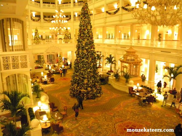Grand Floridian Christmas Tree, Disney christmas tree, Disney Christmas, Grand Floridian lobby,