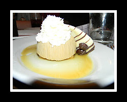 Mama's Panna Cotta, Tiramisu flavored custard with lady fingers in a cappuccino sauce.