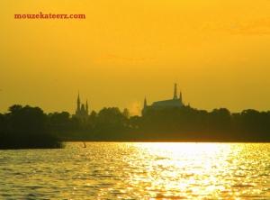 sunset on Bay Lake, sunset on Bay Lake photo, sunset photo, Seven Seas Lagoon photo, Disney sunset photo, Disney photo