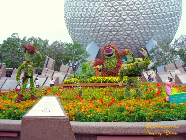 Toy story buss woody lotso flower and garden epcot