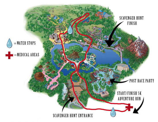 Everest challenge map